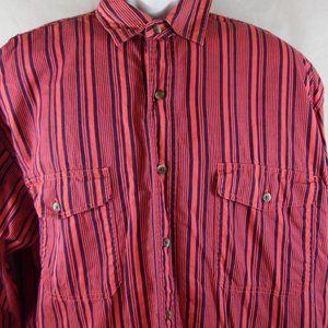 Eddie Bauer Long Sleeve Button Front Size L